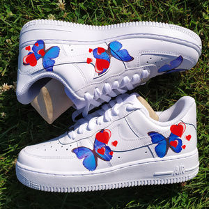 Custom Nike, Butterfly & love AF1 Shoes